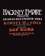 Poster from the Hackney Empire, December 1991