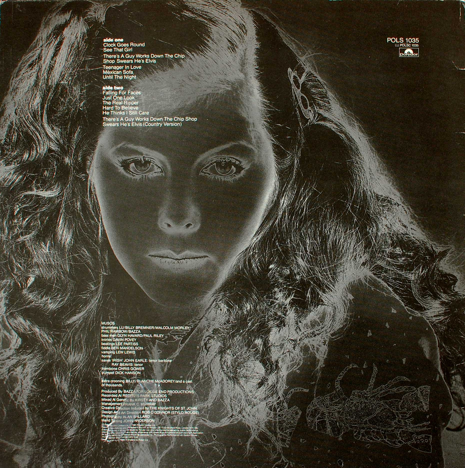 Desperate Character (1981 LP) back cover