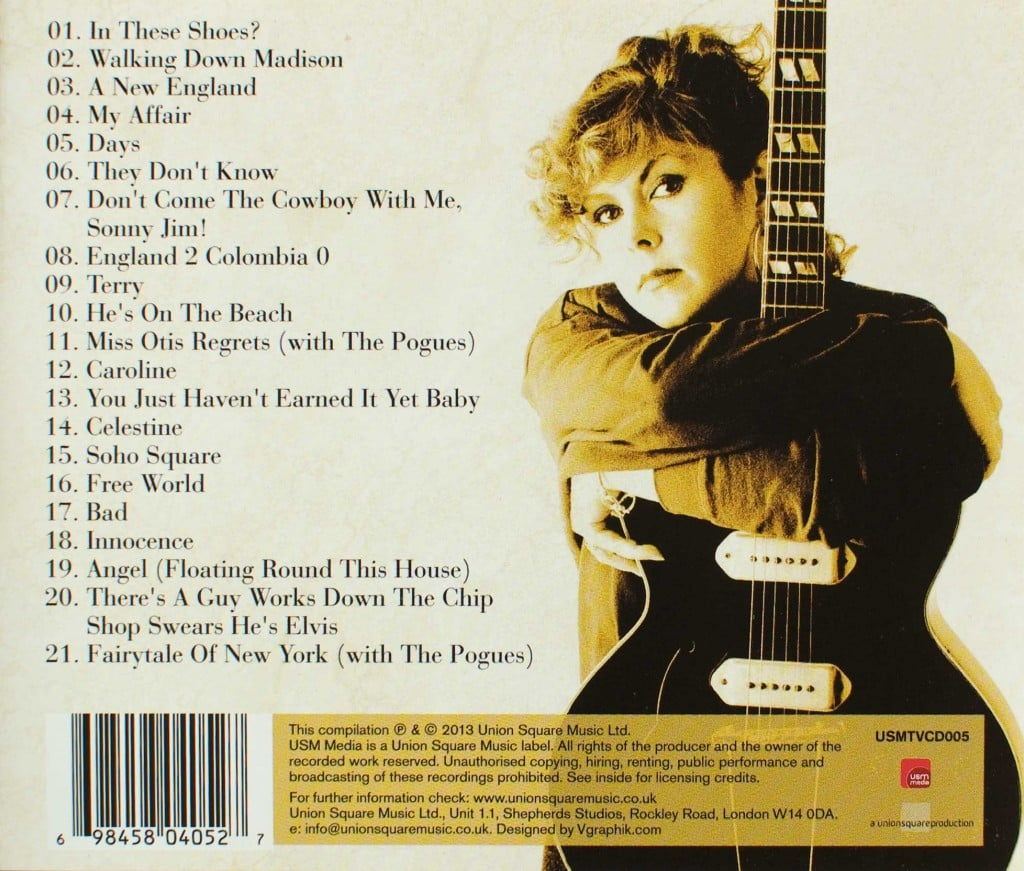 A New England: The Very Best of Kirsty MacColl (CD 2013) back cover