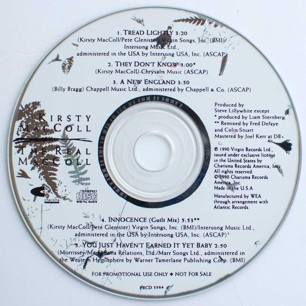 The Real MacColl (1990 CD promo) disc