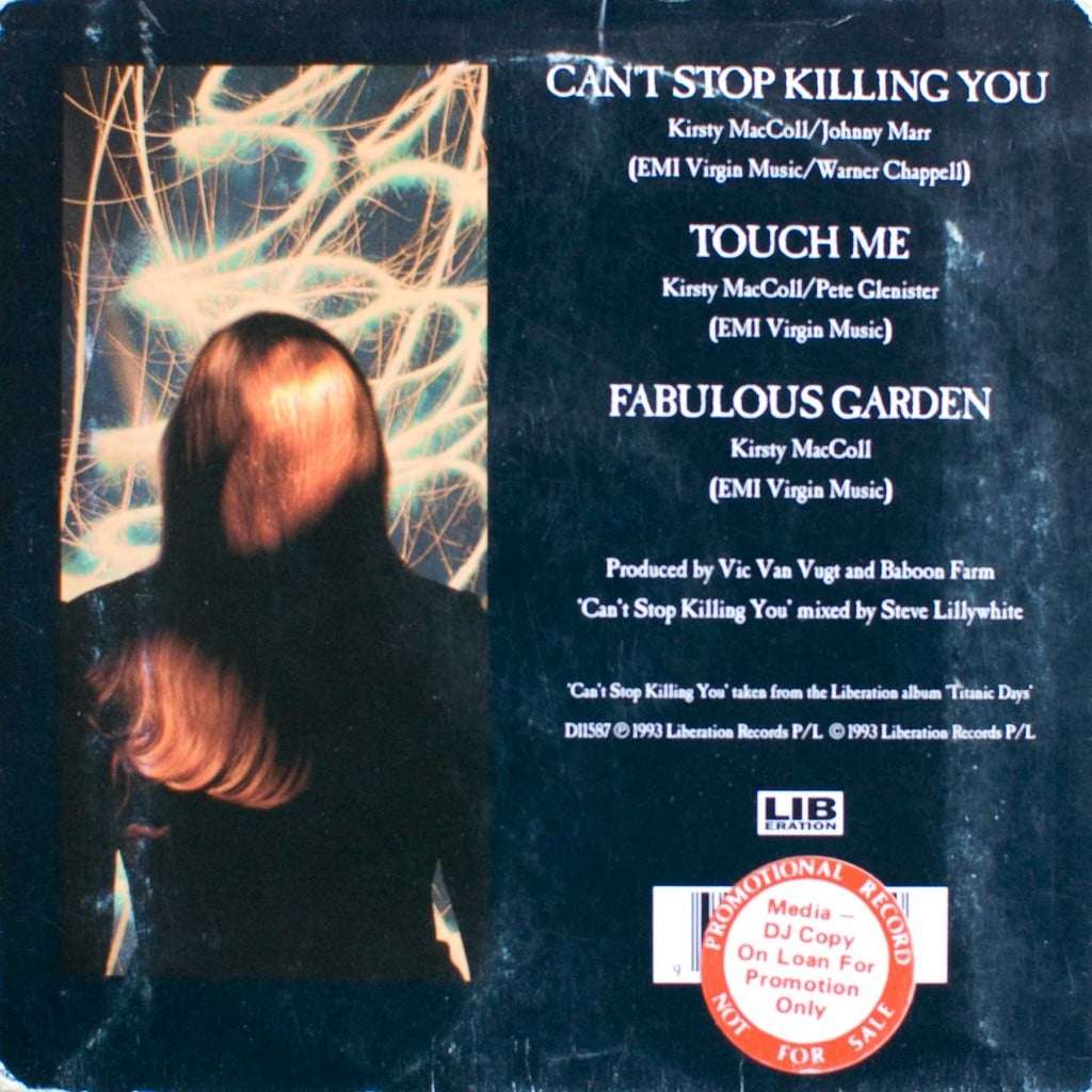 Can't Stop Killing You (Aust CD promo) back cover