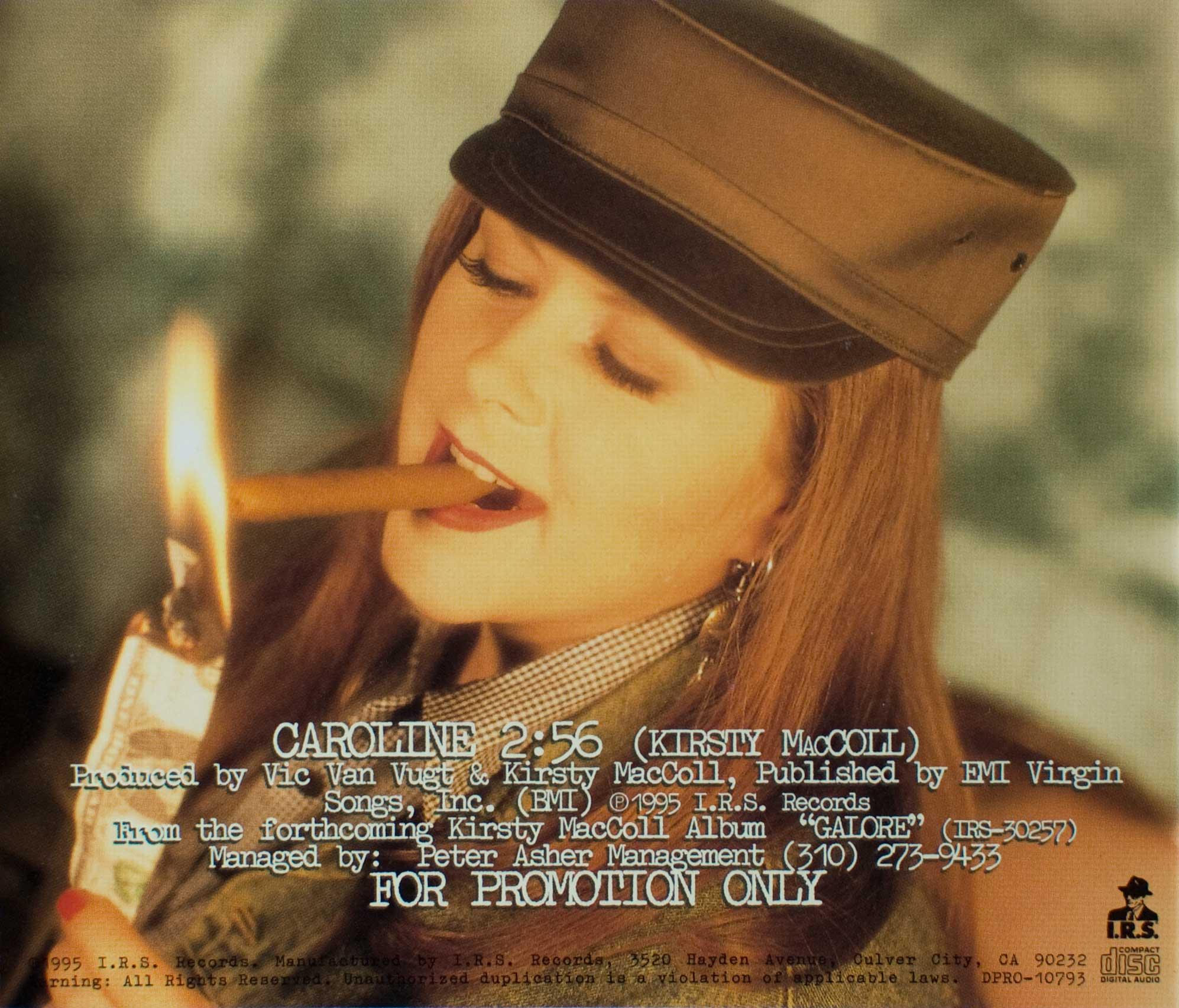 Caroline (CD promo) back cover