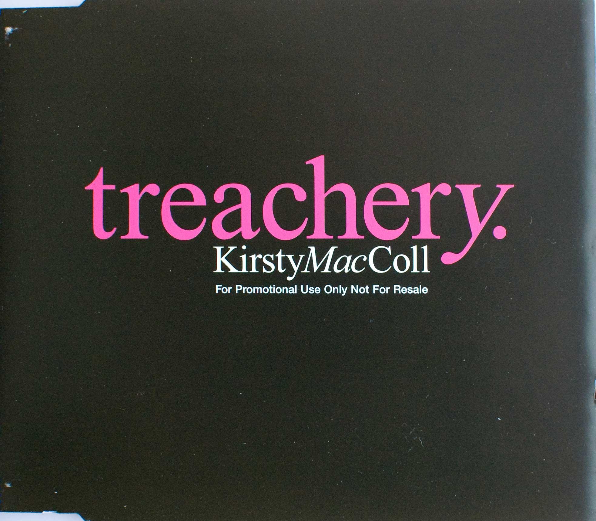Treachery (CD promo) front cover