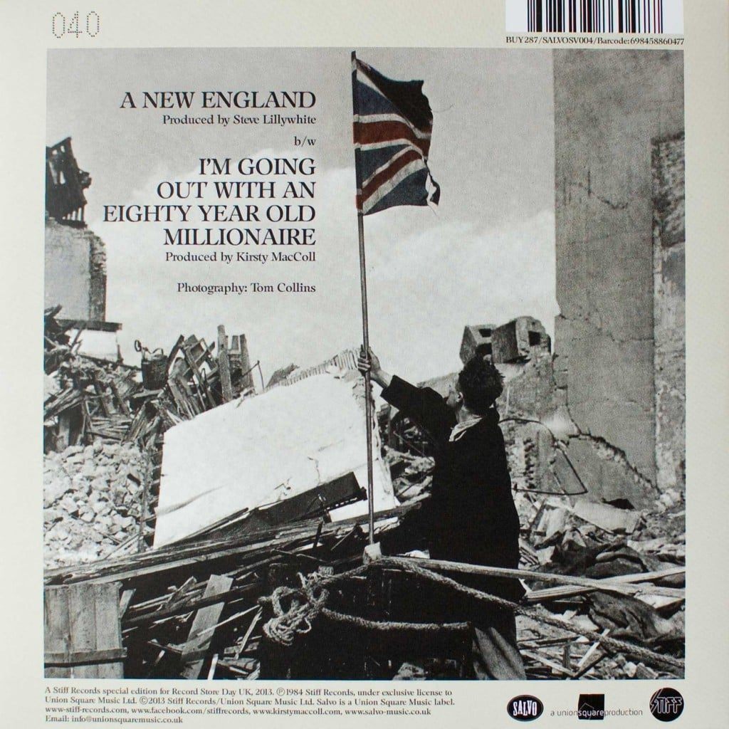 A New England (2013 reissue) back cover