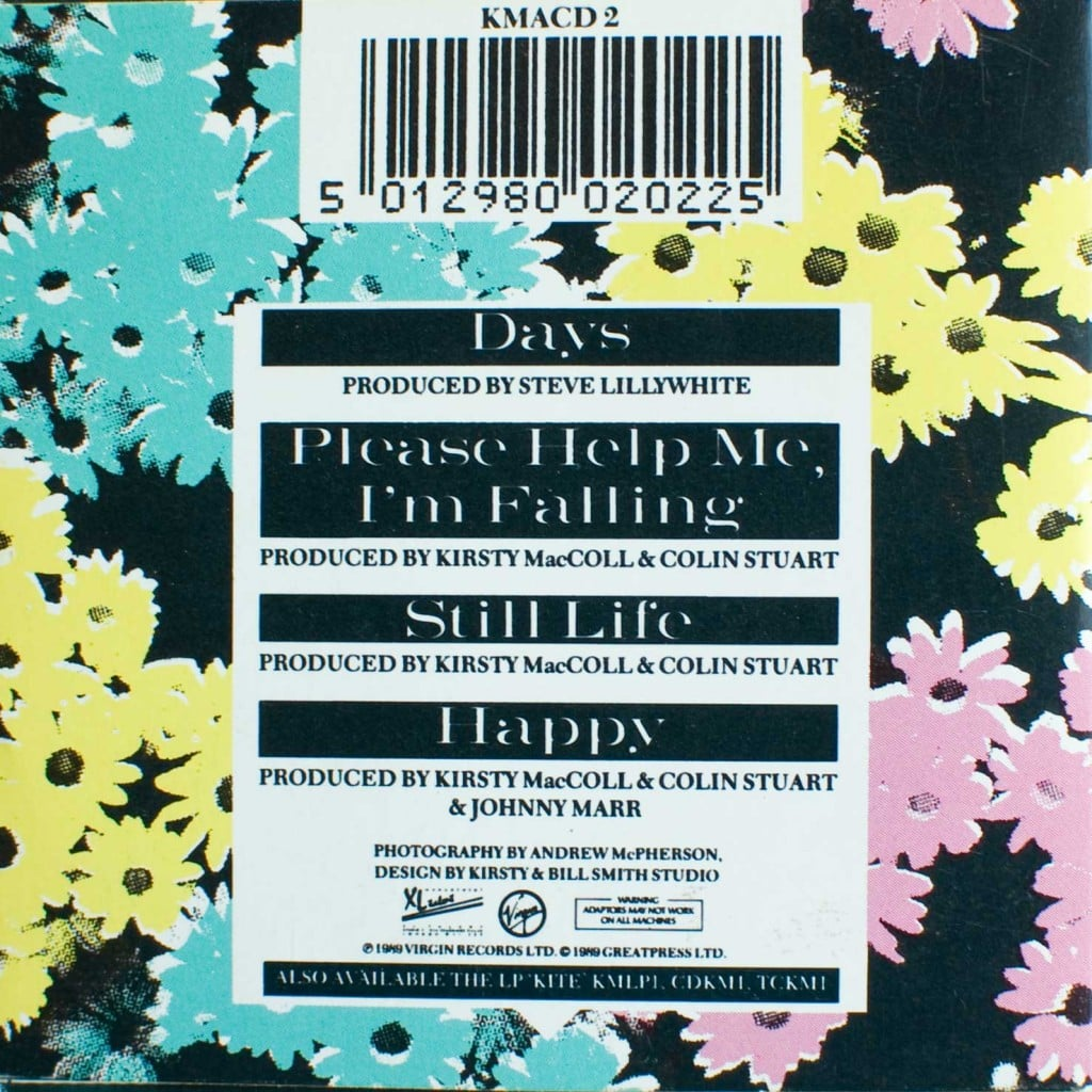 Days (CD single) back cover
