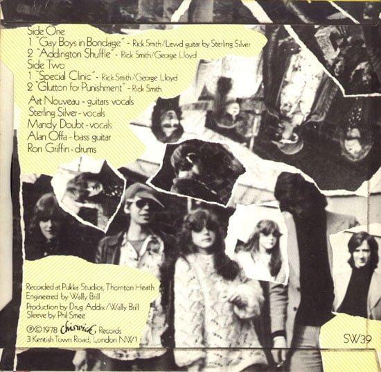 The Drug Addix Make a Record EP, back cover