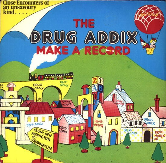 The Drug Addix Make a Record EP, front cover