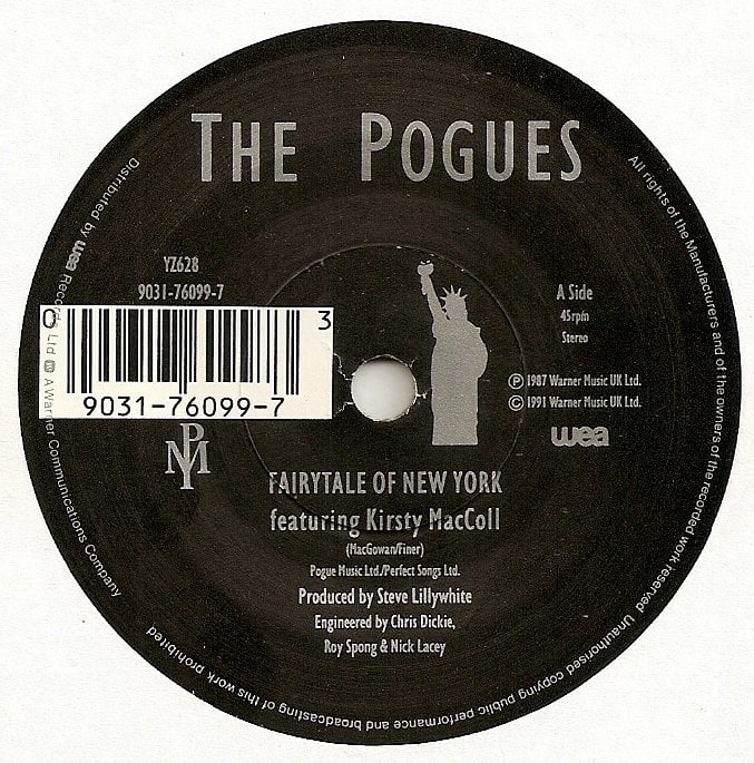 Fairytale of New York (7' reissued in 1991) A side