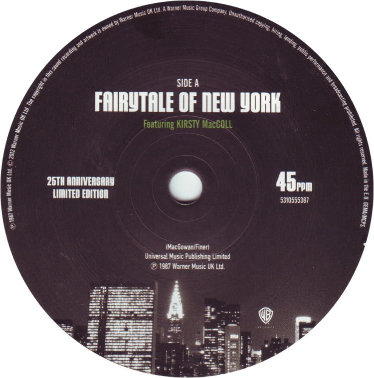 Fairytale of New York (1987 7' single) A side