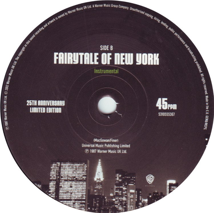 "Fairytale of New York (7"" 2012) B side"