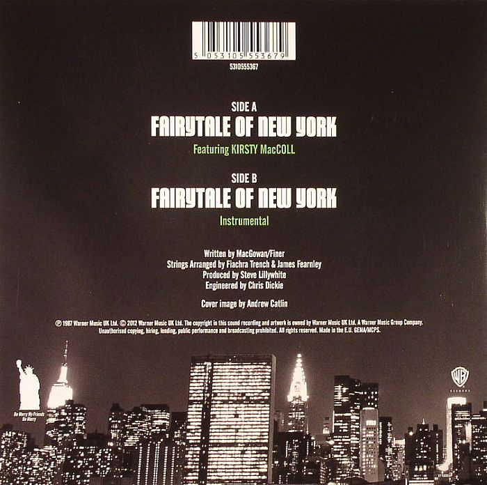 "Fairytale of New York (7"" 2012) back cover"