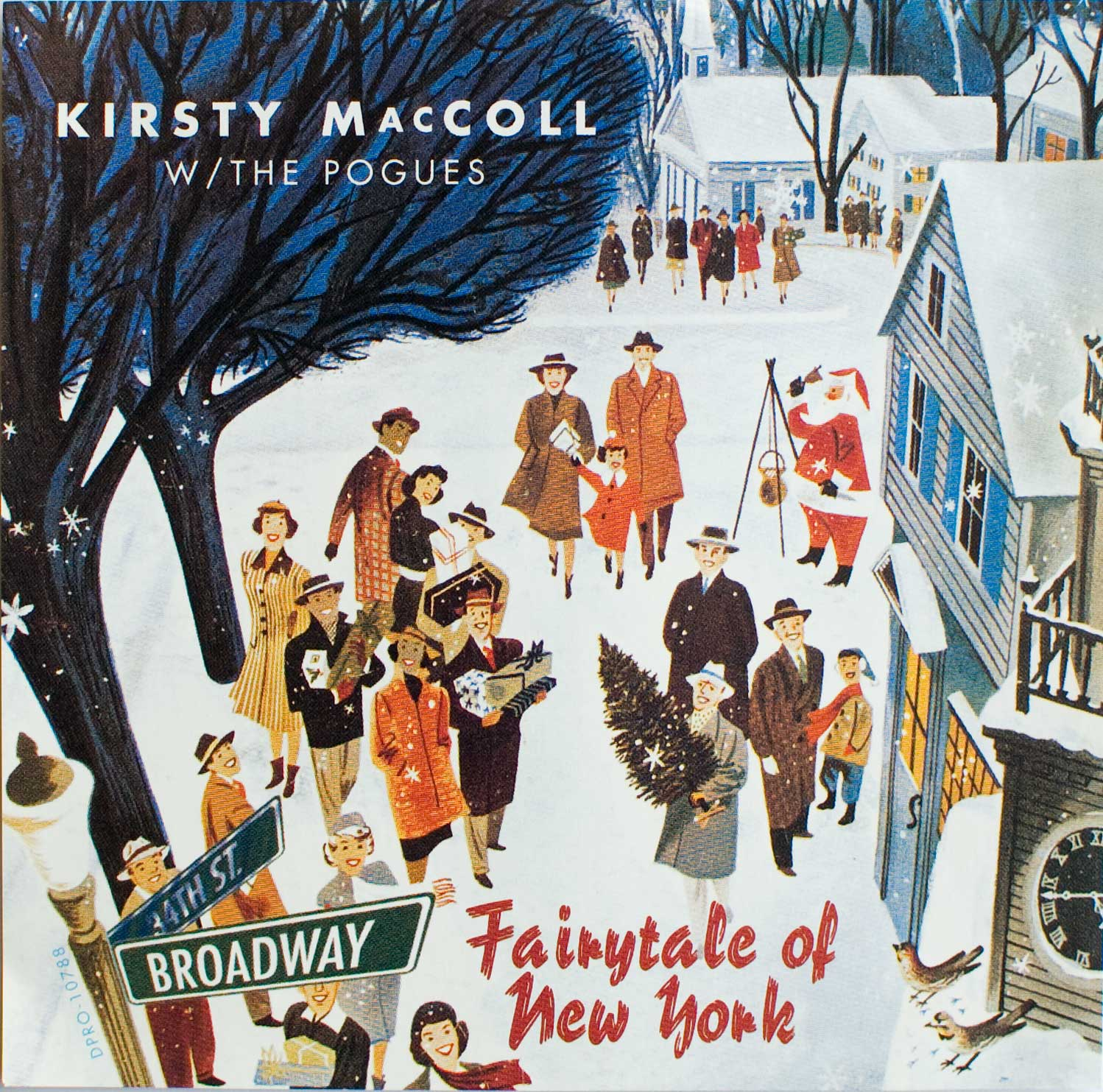 Fairytale of New York CD Promo, front cover