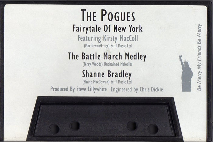 Fairytale of New York (cassette) back cover