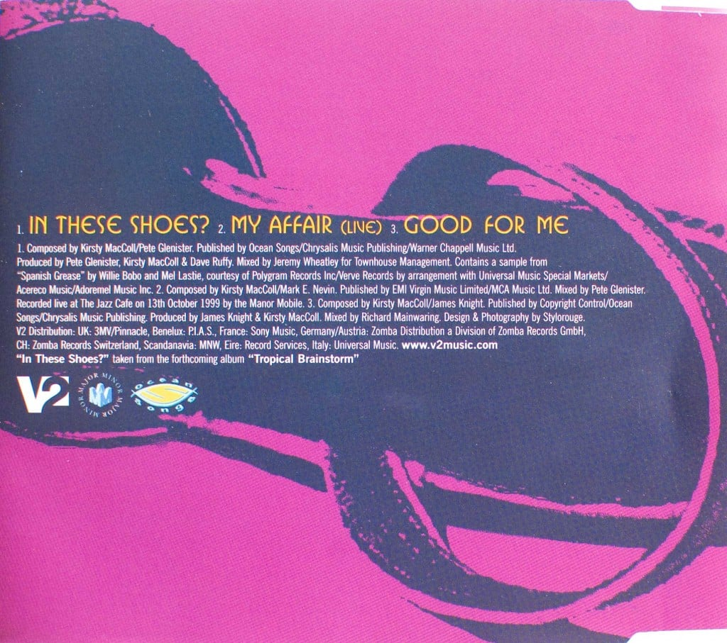 In These Shoes? (CD single 1) back cover