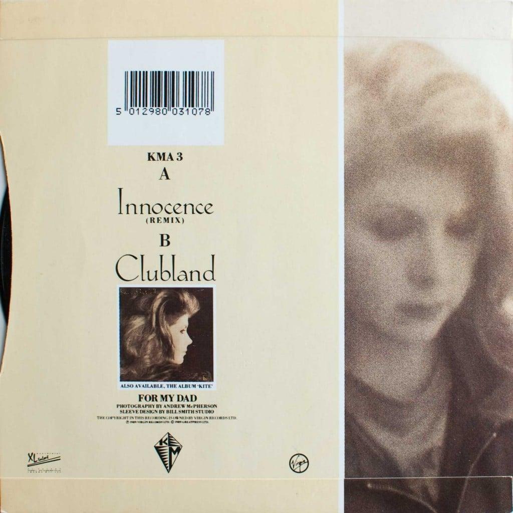 """Innocence (7"""") back cover"""