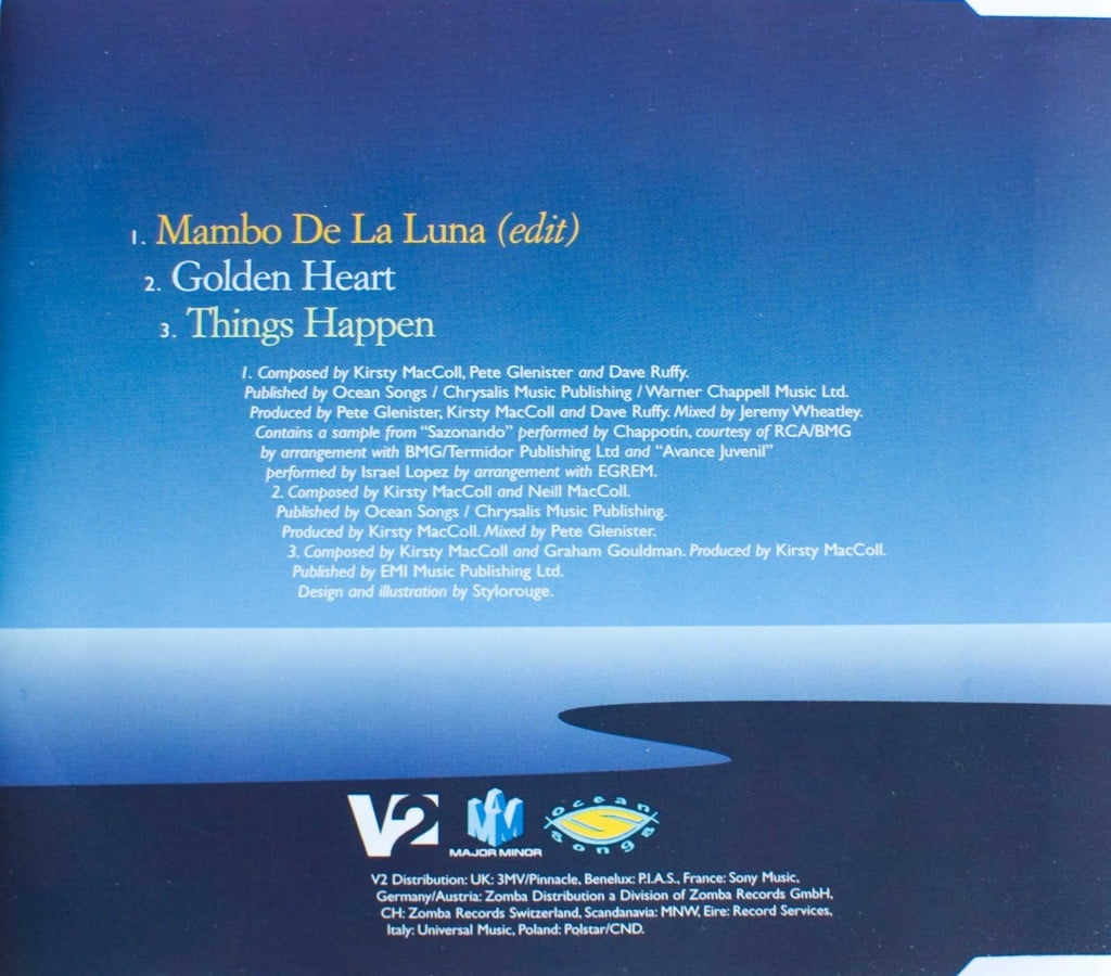 Mambo de la Luna (CD single ) back cover