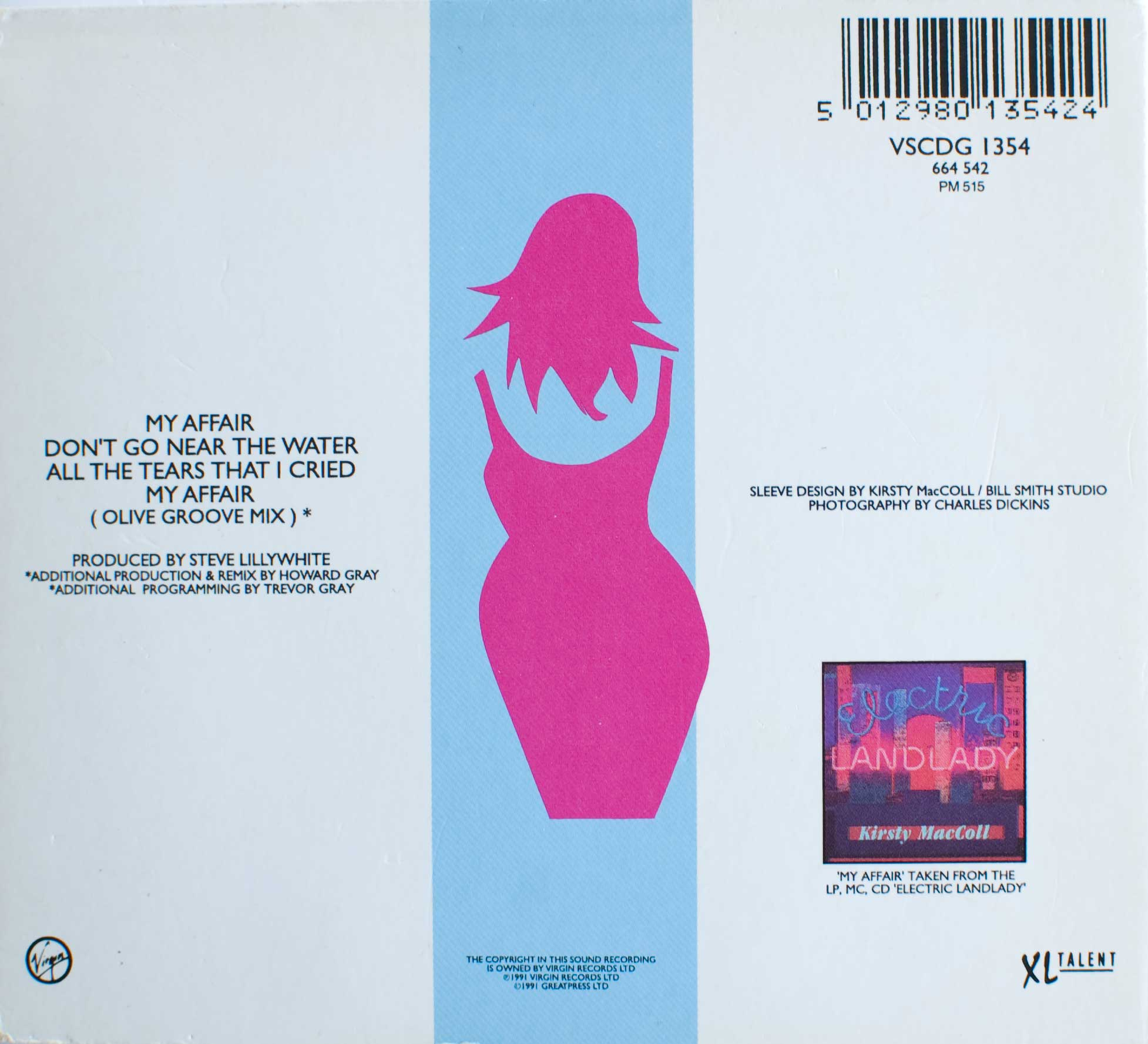 My Affair (CD single) back cover