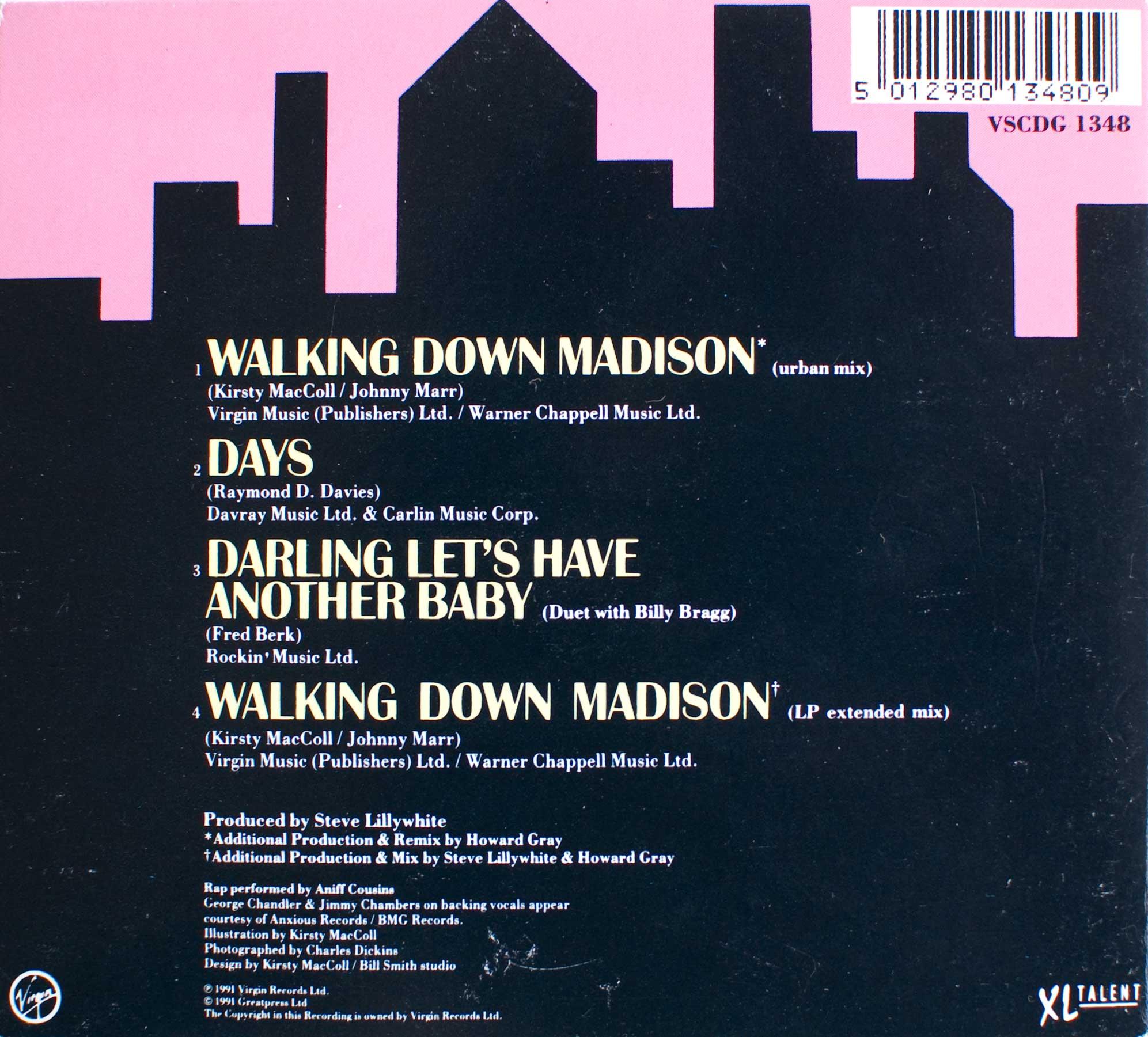 Walking Down Madison (CD single 2) back cover