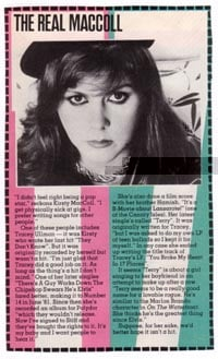 Smash Hits article, 1983