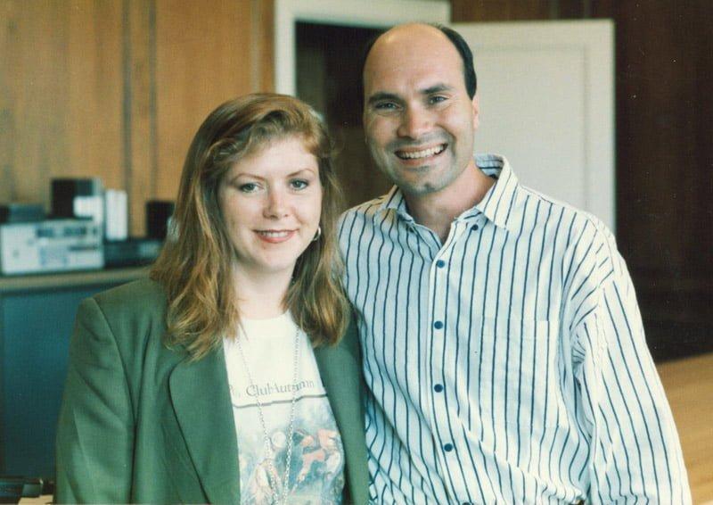 Kirsty with John Giotto, November 1990